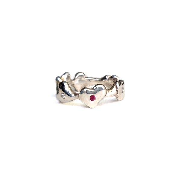 Dancing Hearts Ring
