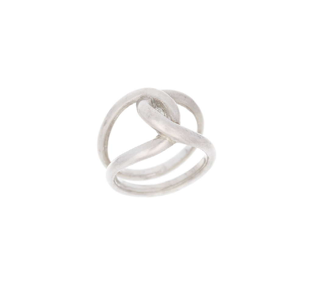Twisted Double Band Ring