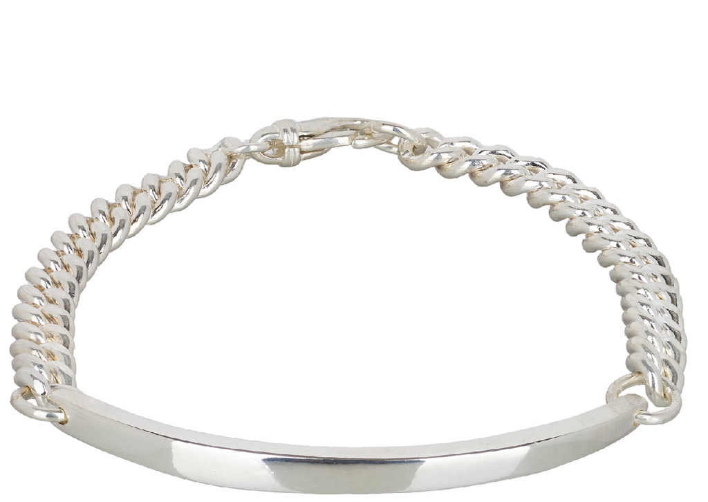 Men's Curved Large Bar Bracelet