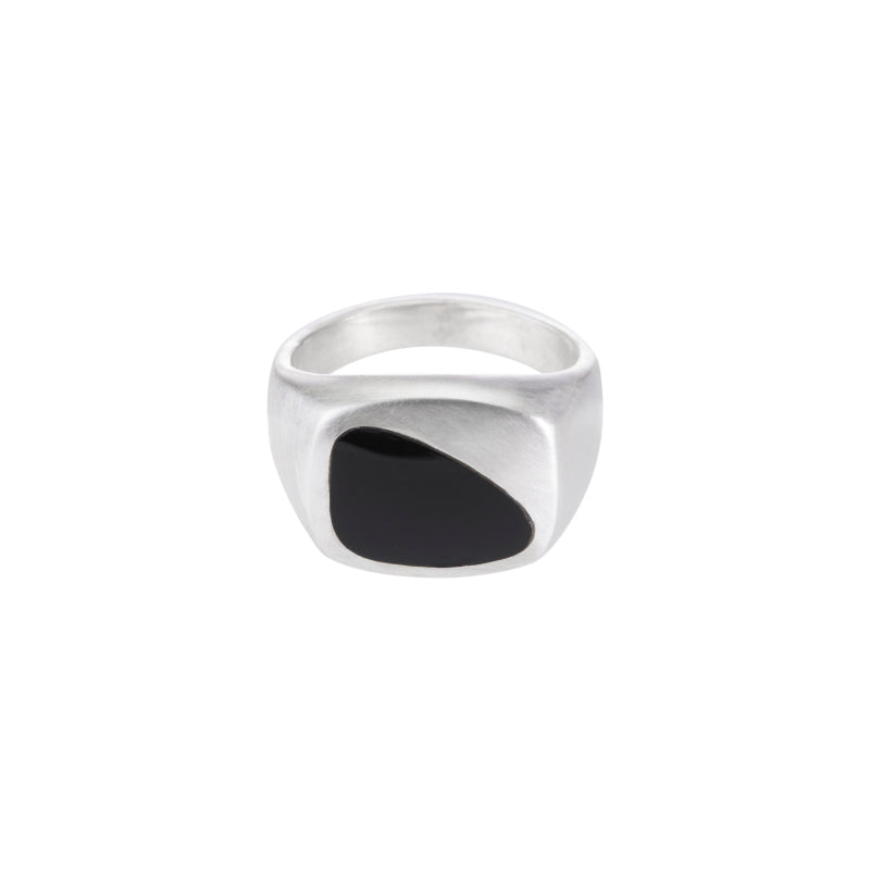 Onyx Inlay Signet Ring