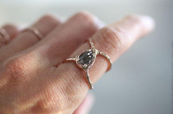 Raw Diamond Cage Ring