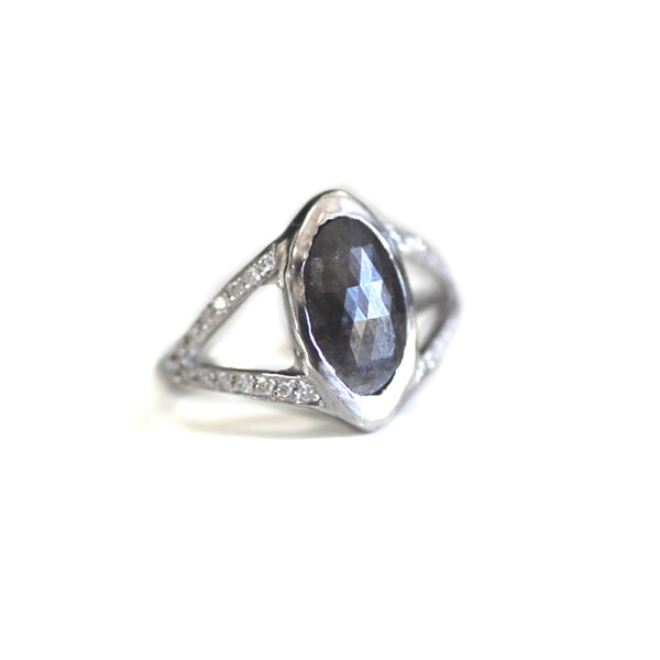Oval Rustic Diamond Ring