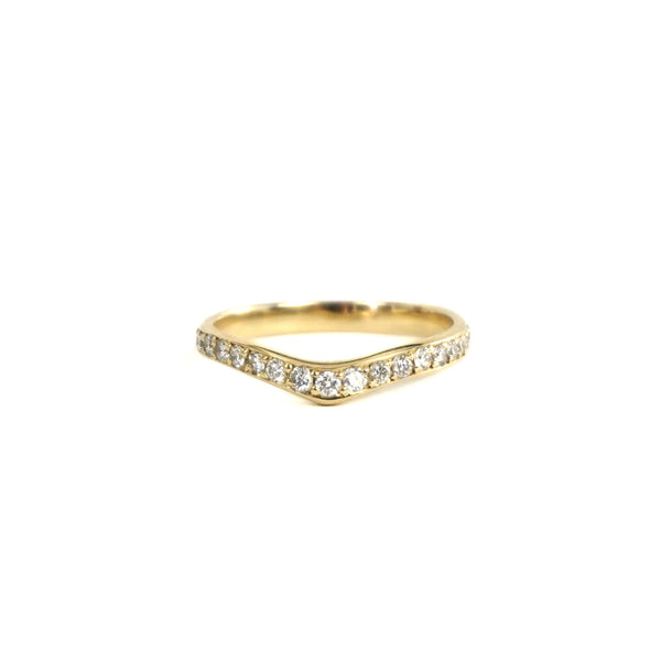 14k Diamond V ring