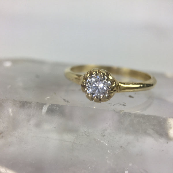 Textured bezel Canadian Diamond ring
