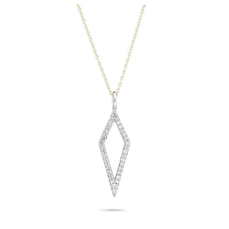 Open pave diamond necklace