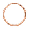 Rose Gold-Filled Endless Hoops