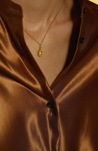 lantern collarbone chain necklace