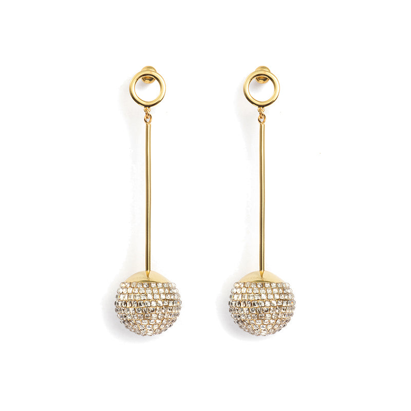 short disco ball earring / ear stub
