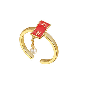 """da ji""character ring adjustable"
