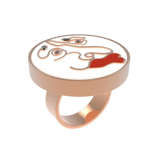 monster face ring adjustable