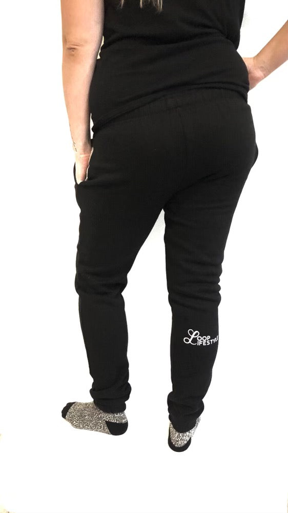 Black Loop Sweatpants