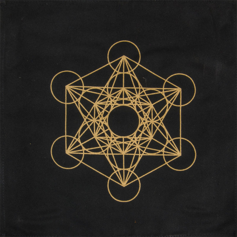 Printed Cotton Crystal Grid Metatron | Dinomit Rocks and Gems