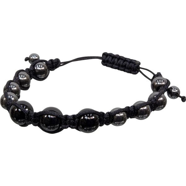 Black Tourmaline Hematite Magnetic Adjustable Bracelet