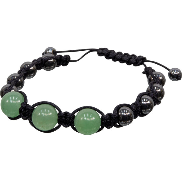 Aventurine Hematite Magnetic Adjustable Bracelet | Dinomite Rocks and Gems