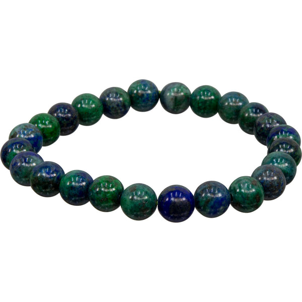 Azurite Malachite Natural Beaded Bracelet | Dinomite rocks and Gems