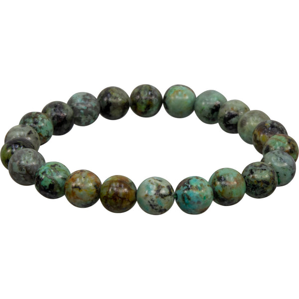 African Turquoise Natural Beaded Bracelet | Dinomite Rocks and Gems