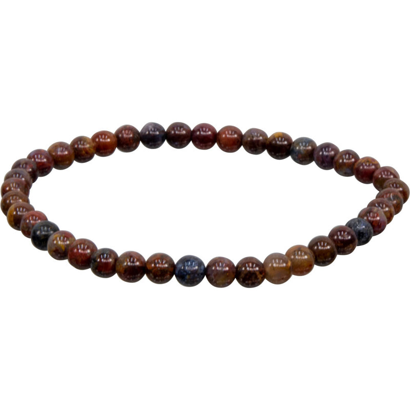 Pietersite Natural Beaded Bracelet Jewelry | Dinomite Rocks and Gems