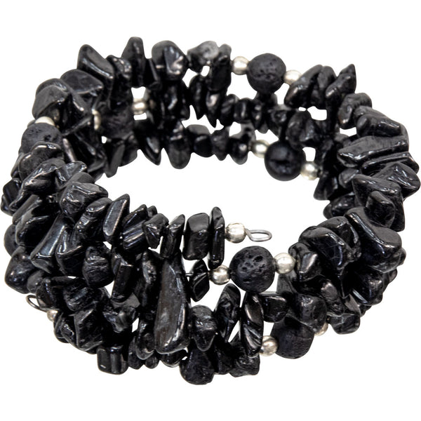 Black Tourmaline Bracelet | Dinomite Rocks and Gems