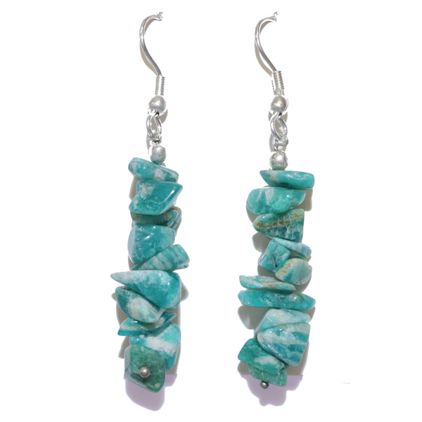 Amazonite Chip Earrings For Sale | Dinomite Rocks and Gems