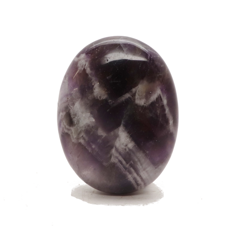 Amethyst Chevron Palm Stone for Sale | Dinomite Rocks and Gems