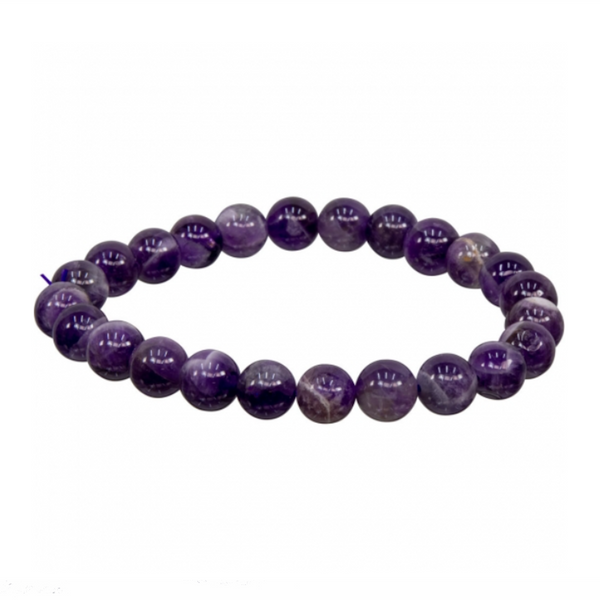 Amethyst Natural Beaded Bracelet
