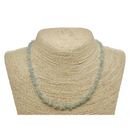 Aquamarine Natural Beaded Chip Necklace