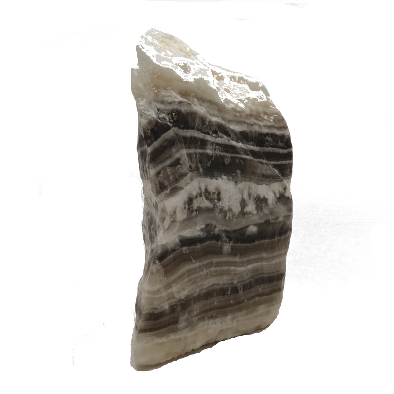 Black and White Banded Calcite Crystal - 2lbs 10.9oz