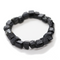 Black Tourmaline Natural Barrel Bracelet