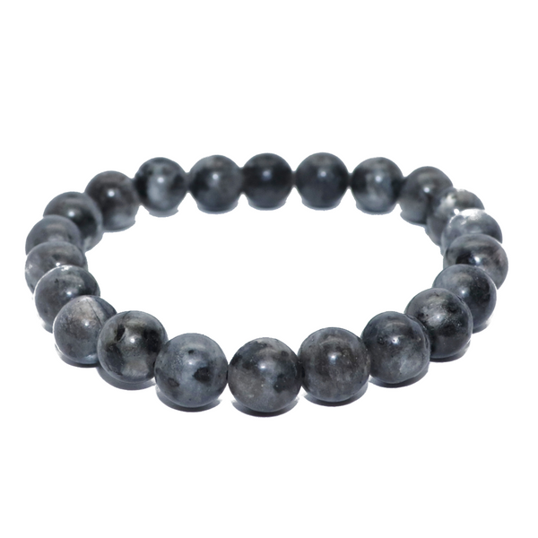 Black Labradorite Natural Beaded Bracelet
