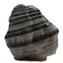 Black and White Banded Calcite Crystal - 4lbs 1.1oz