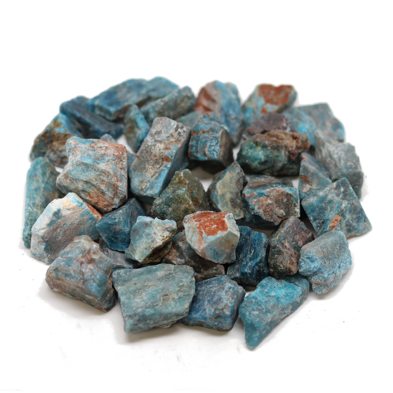 Blue Apatite Rough - 1lb Lot