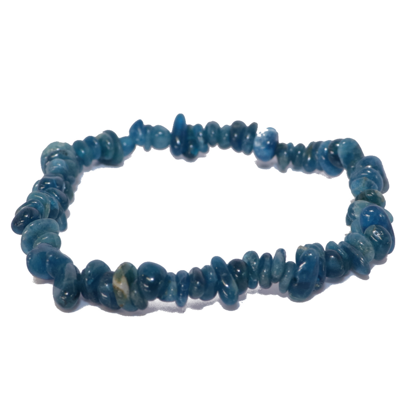 "Blue Apatite Natural Chip Bracelet ""Small Chip"""