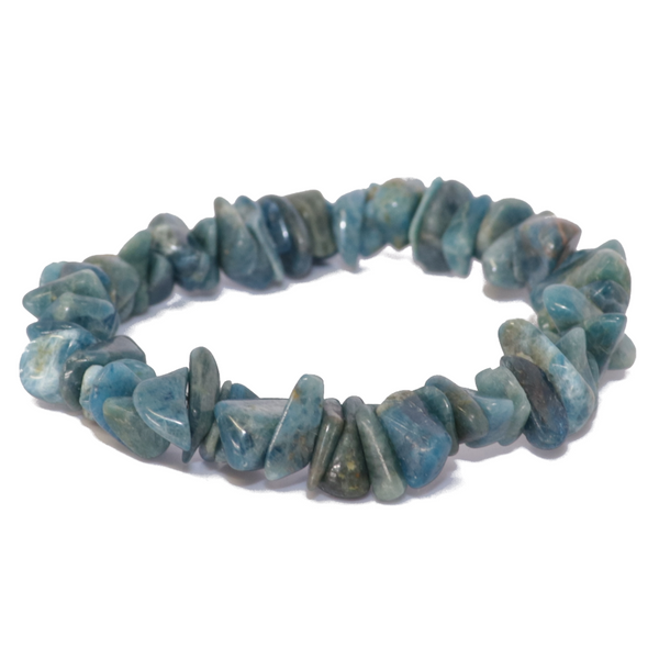 "Blue Apatite Natural Chip Bracelet ""Medium Chips"""