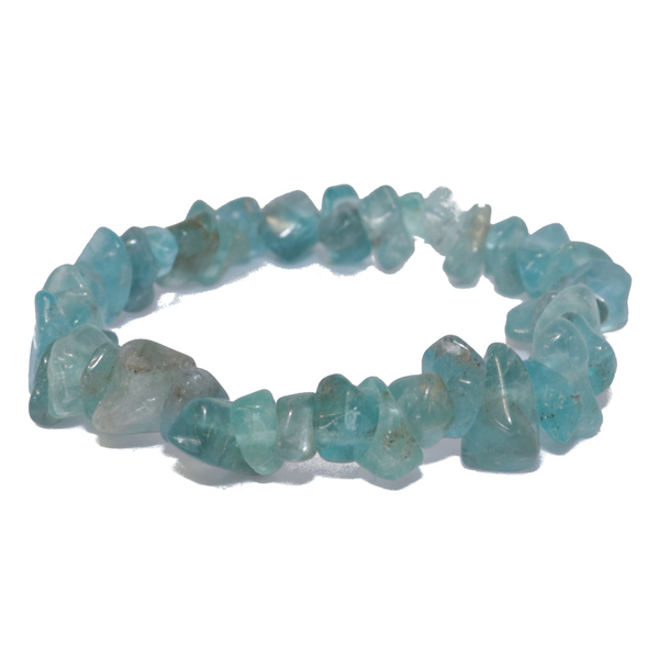 Blue Apatite Natural Chip Bracelet