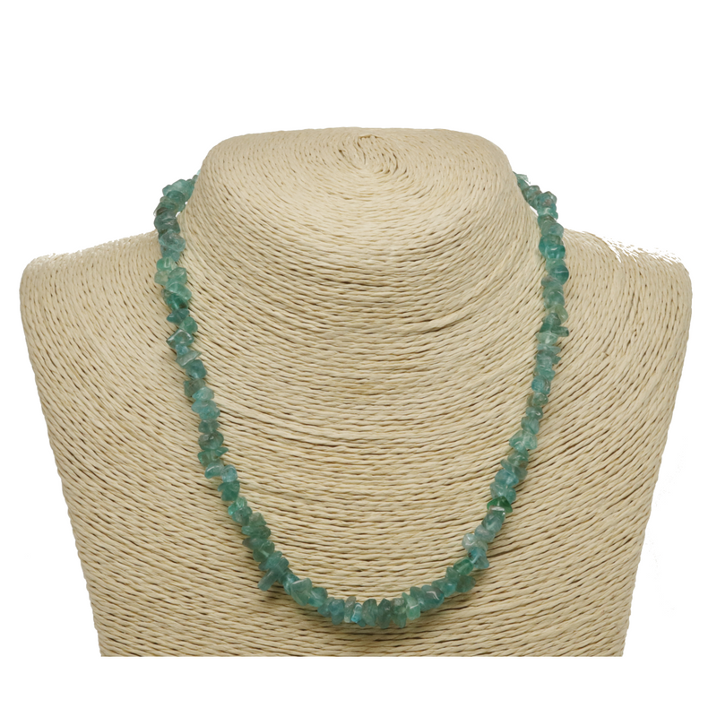 Blue Apatite Natural Beaded Chip Necklace