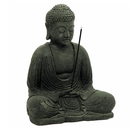 Black Meditating Buddha Incense Holder for Sale | Dinomite Rocks and Gems