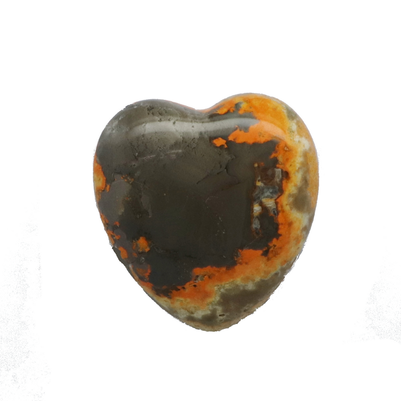 Bumble Bee Jasper Heart for sale | Dinomite Rocks and Gems