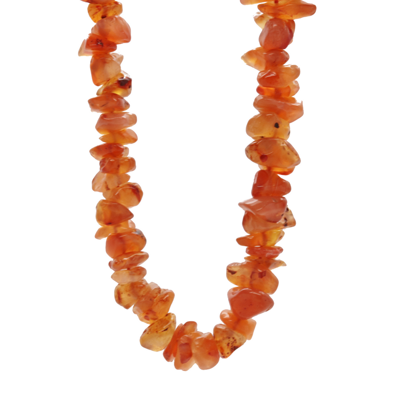 Carnelian Agate Natural Beaded Chip Necklace