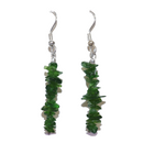Chrome Diopside Chip Earrings For Sale | Dinomite Rocks and Gems
