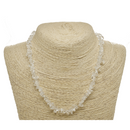 Clear Quartz Natural Beaded Chip Necklace