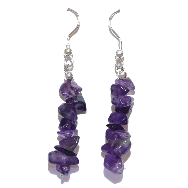 Amethyst Chip Earrings For Sale | Dinomite Rocks and Gems