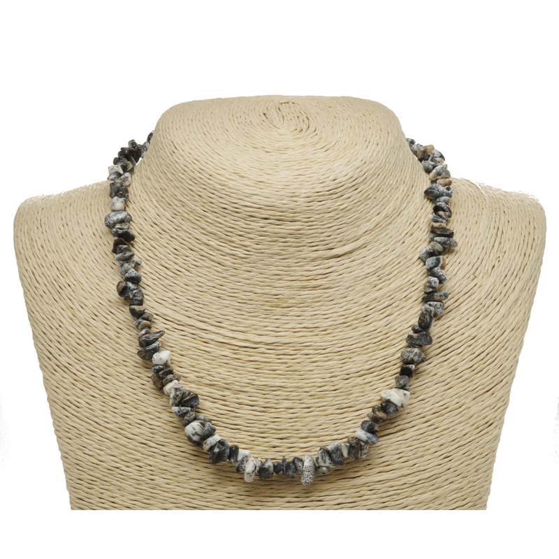 Dendritic Opal Natural Beaded Chip Necklace