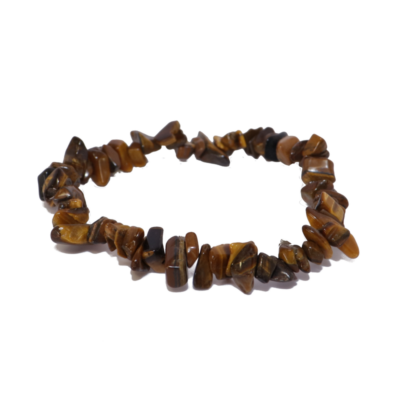 Gold Tigers Eye Natural Chip Bracelet Jewelry | Dinomite Rocks and Gems