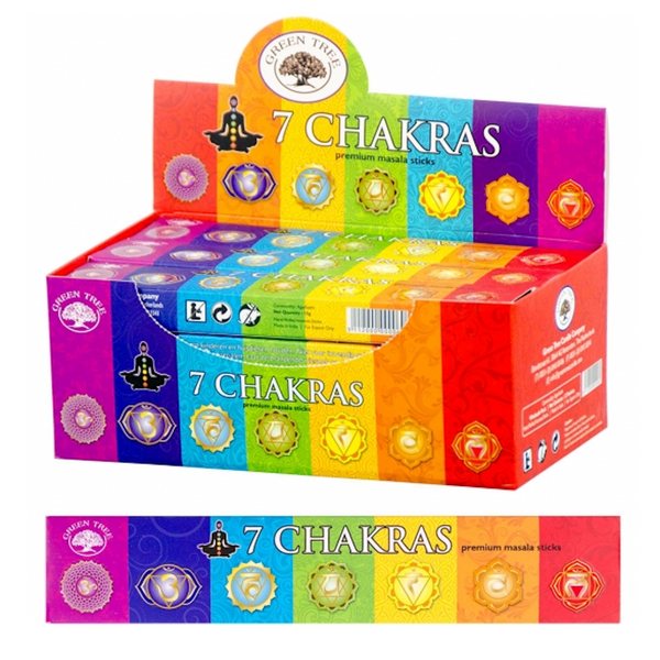 Green Tree Incense 7 Chakras for Sale | Dinomite Rocks and Gems