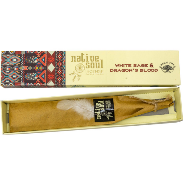 Green Tree Native Soul Incense - White Sage & Dragon's Blood 15gr