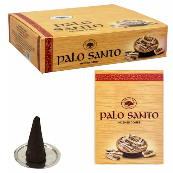Green Tree Palo Santo Incense Cones - 10 Cones