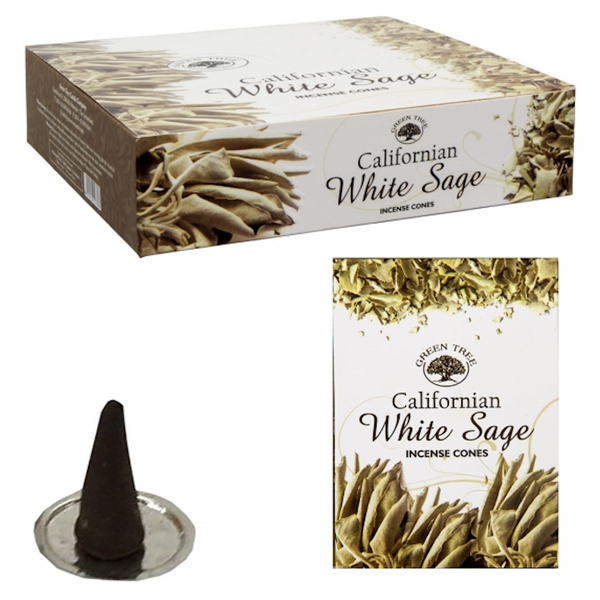 Green Tree White Sage Incense Cones - 10 Cones