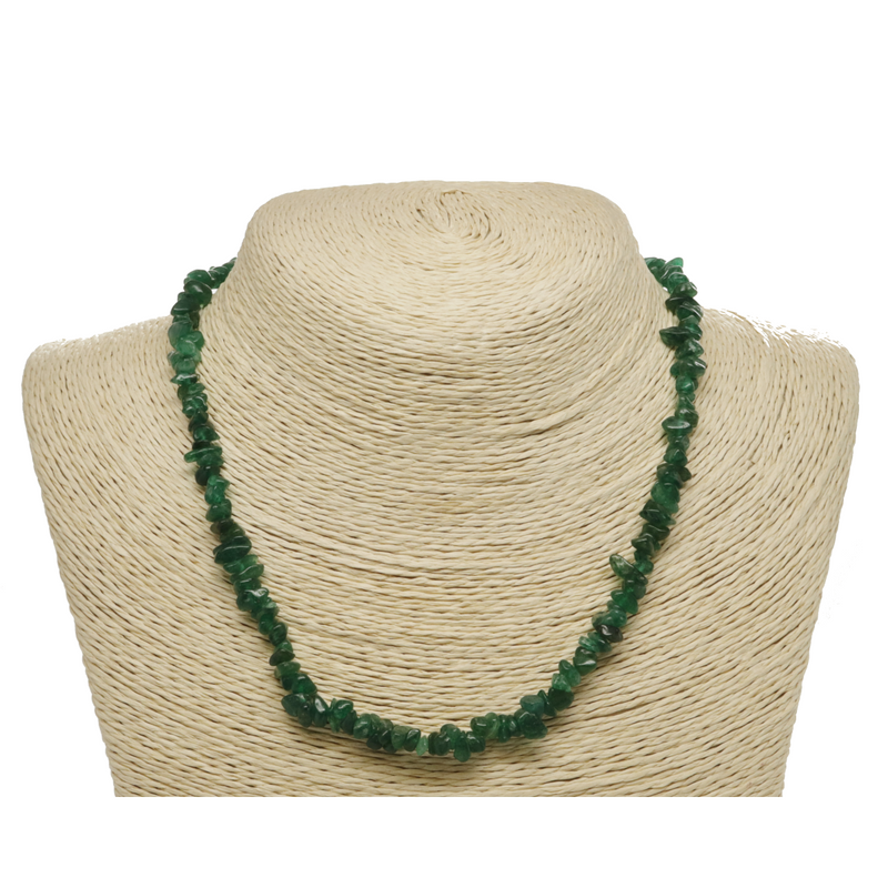 Green Aventurine Natural Beaded Chip Necklace