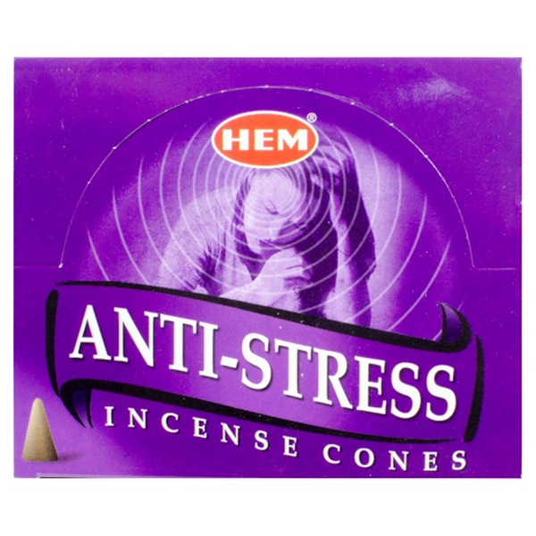 Hem Anti-Stress Incense Cones - 10 Cones