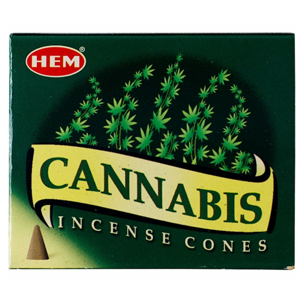 Hem Cannabis Incense Cones - 10 Cones